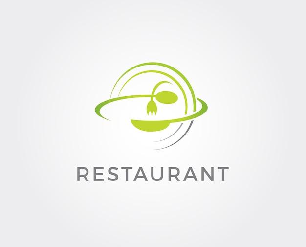 Еда плоский логотип.