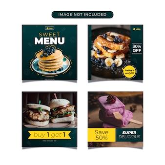 Food flyer social media post