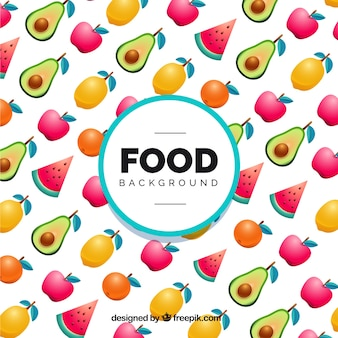 Food frame background pattern