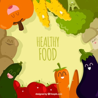 Food frame with different aliments