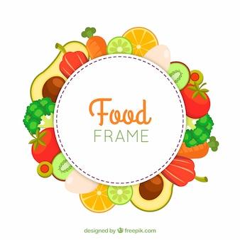 果物や野菜のフードフレーム