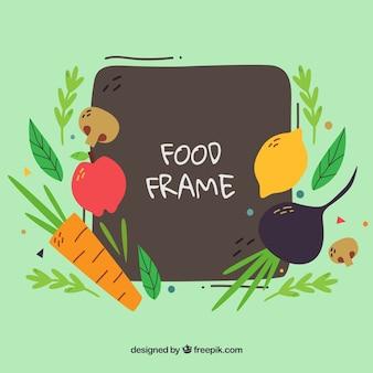 야채와 음식 프레임
