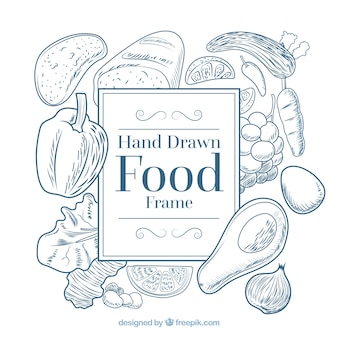 Food frame with vegetables