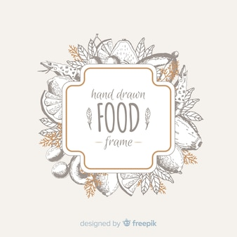 음식 프레임