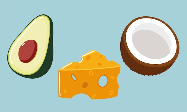 음식 신선한 아보카도 코코넛 치즈
