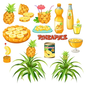 Food from pineapple.
