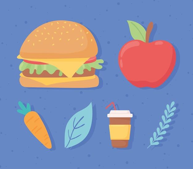 건강에 좋은 음식과 건강에 해로운 음식