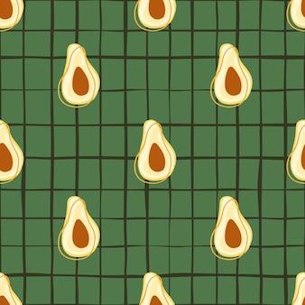 Еда здоровая бесшовные модели с каракули авокадо орнаментом