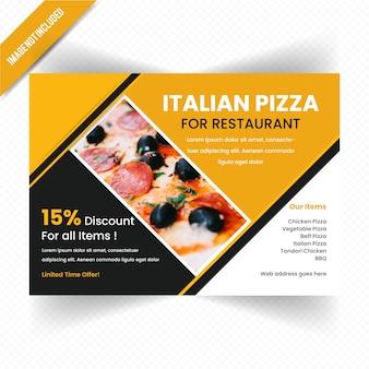 Дизайн горизонтального листового продукта для ресторана