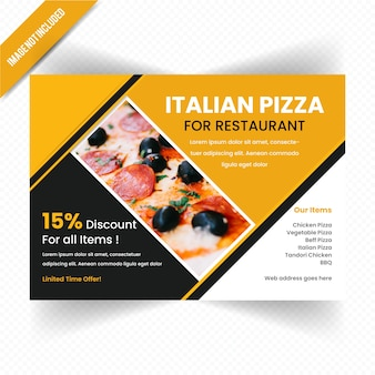 Food horizontal flyer design for restaurant