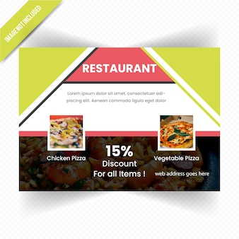 Food horizontal flyer for restaurant
