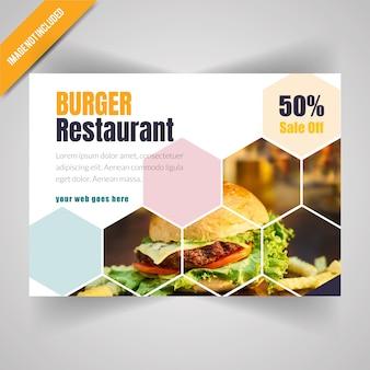 Food horizontal flyer for restaurant