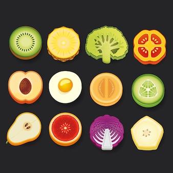 Collezione di icone alimentari