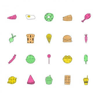 Коллекция icon пищи