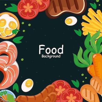 Группа значков продуктов питания