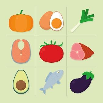 Набор иконок продуктов питания