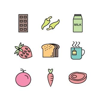 Продовольственные иконки