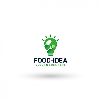 Food idea logo template