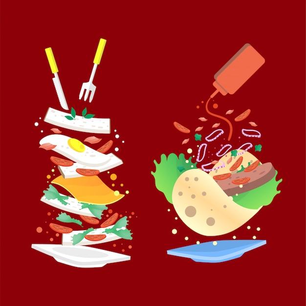 Food illustration background
