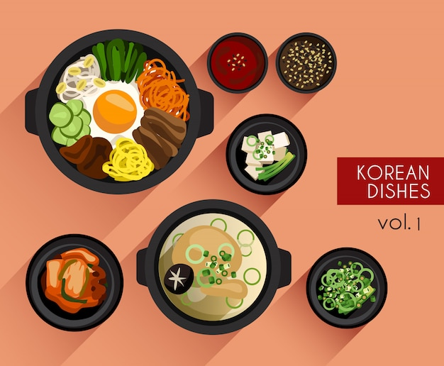 Food illustration : korean food
