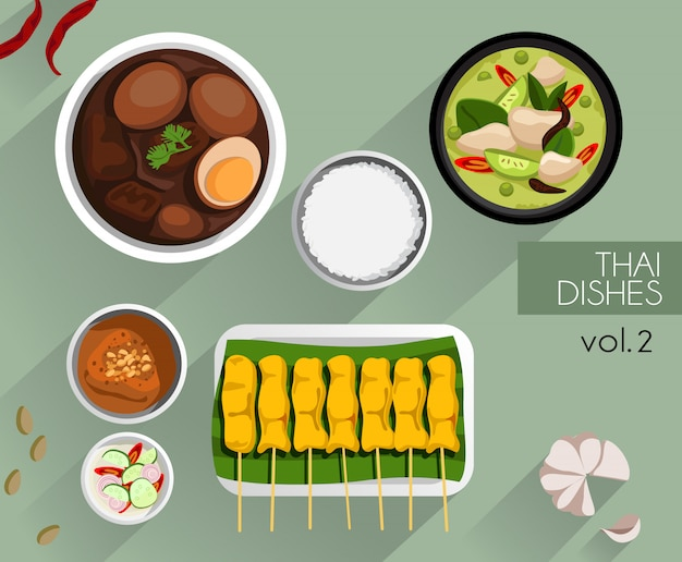 Food illustration : thai food