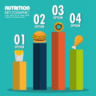 음식 infographic 아이콘 벡터 일러스트 eps 10