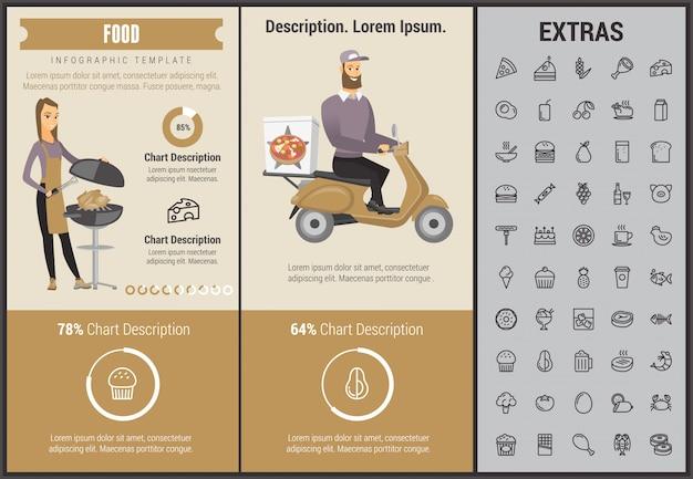 음식 infographic 템플릿, 요소 및 아이콘