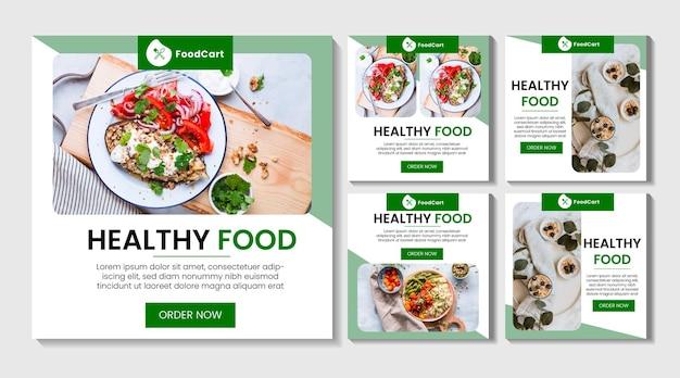 Food instagram post collection set