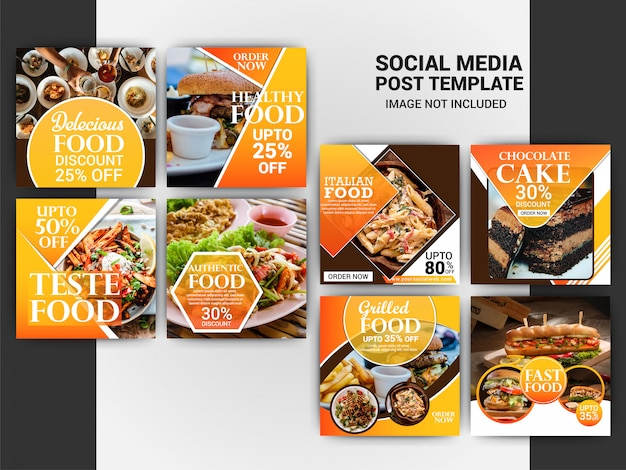 Food instagram post template
