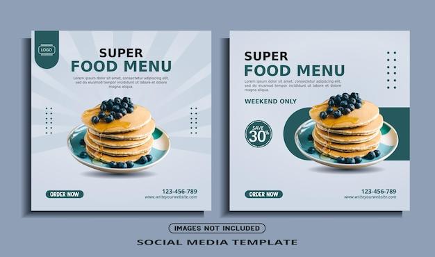 Food instagram social media banner post template