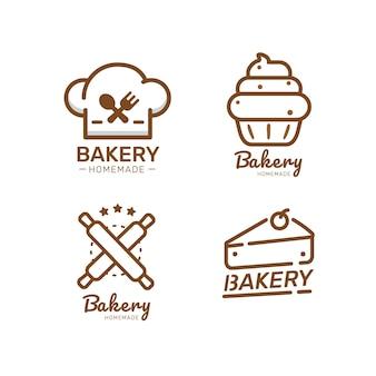 Food label bakery sweet bakery dessert sweets shop  design template