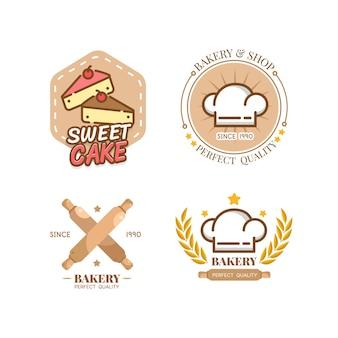 식품 라벨 빵집 달콤한 빵집 디저트 과자 가게 디자인 템플릿