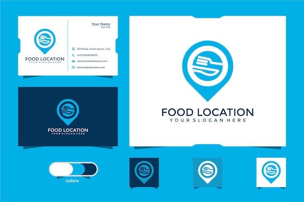 Дизайн логотипа и визитной карточки места питания