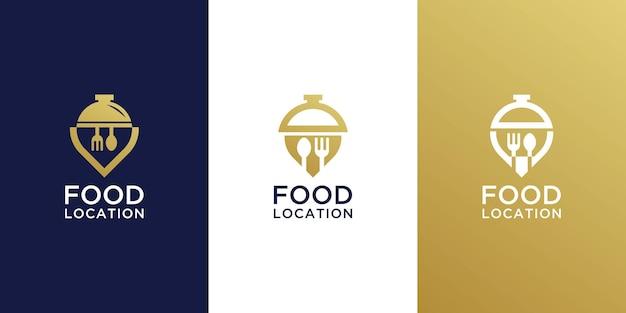 Food location logo design collection