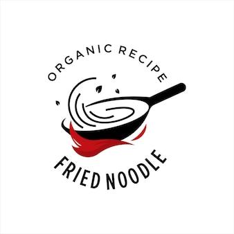 Food logo cooking pan chef vector