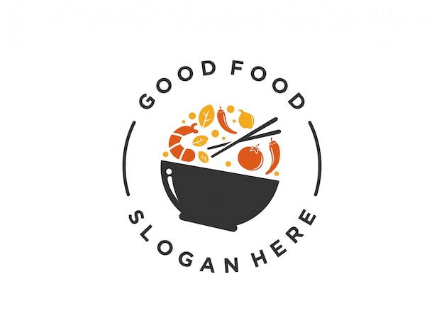 Дизайн логотипа еды.