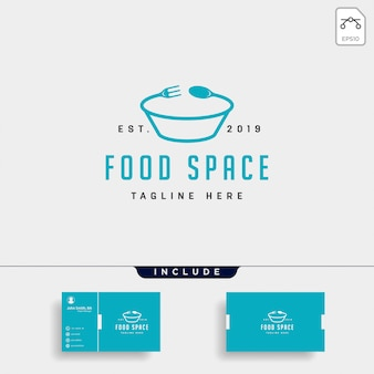 Food logo icon element illustration file