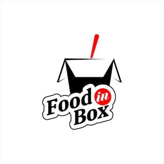食品ロゴライスボックスベクトルステッカーとラベル