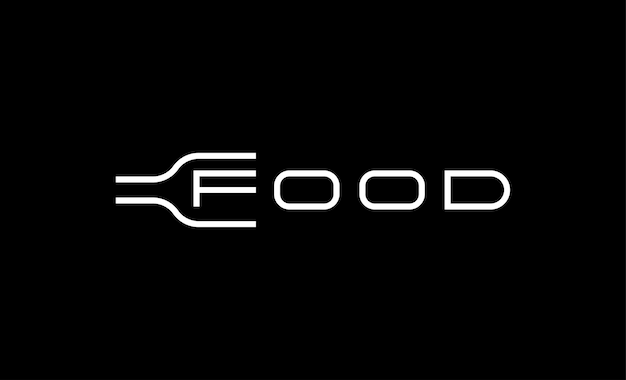 食品ロゴタイプテキストロゴベクトルデザイン