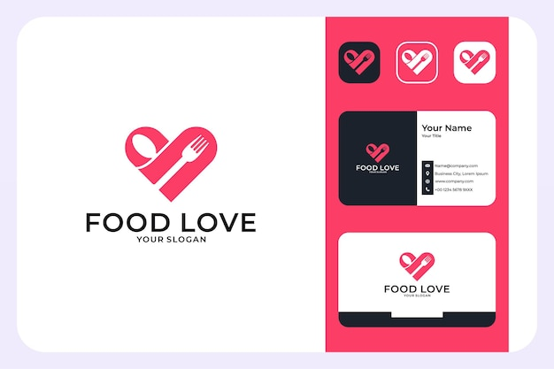 음식 사랑 로고 디자인 및 명함