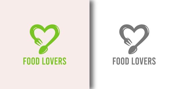 Шаблон дизайна логотипа ресторана food lovers Premium векторы