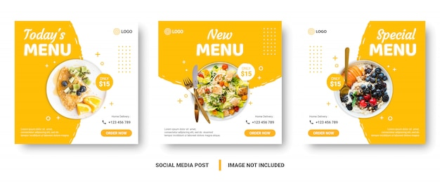 Food menu banner social media post.
