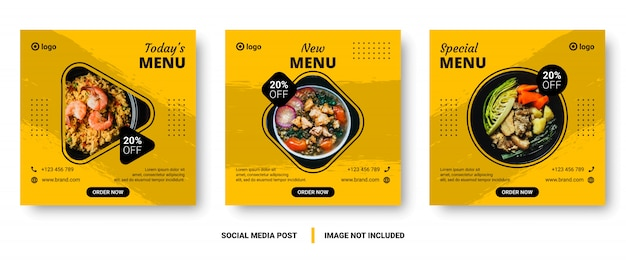 Food menu banner social media post.
