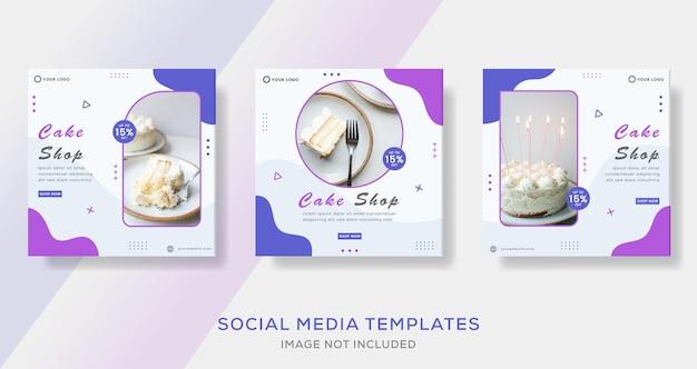 Шаблон поста с рассказами о меню еды для социальных сетей премиум векторы