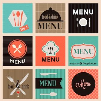 Food menu logo set