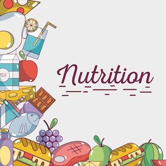 Food natural nutrition ingredients background