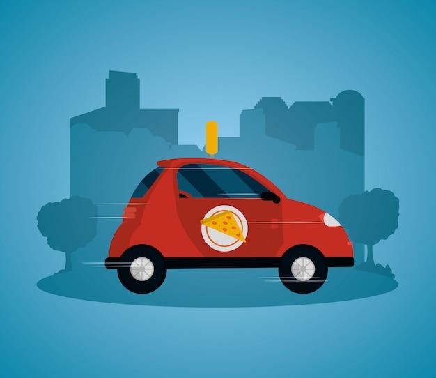 Food order delivery vector illustrator