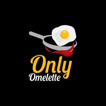 Еда сковорода с жареным яйцом