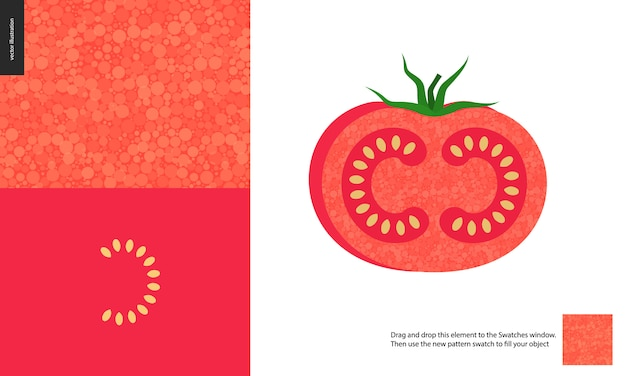 Food patterns, vegetable fruit, tomato