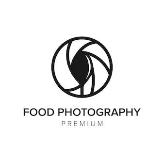 Еда фотография логотип значок вектор шаблон